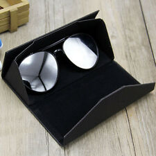 Luxury Leather Foldable Eye Glasses Sunglasses Protector Holder Box Case Cover