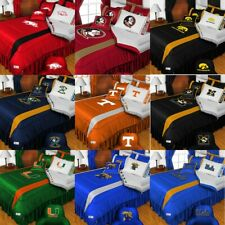 nEw 5pc NCAA COLLEGE LOGO BEDDING SET -Football Sports Team Bed Comforter Sheets