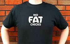 NO FAT CHICKS LOWRIDER LOW RIDER JDM GRAPHIC T-SHIRT TEE FUNNY CUTE