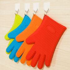 Oven Pot Holder Silicone Glove Kitchen Heat Resistant Baking BBQ Cooking Mitts