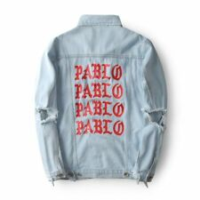 Men's Denim Jacket Kanye West I FEEL LIKE PABLO High Street Jean Coats Jacket