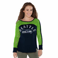 Seattle Seahawks Touch by Alyssa Milano Women's Playoff T-Shirt - Navy - NFL
