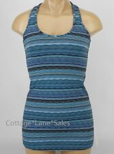 NEW LULULEMON Cool Racerback Tank Top 2 4 Space Dye Twist Naval Blue Peacock