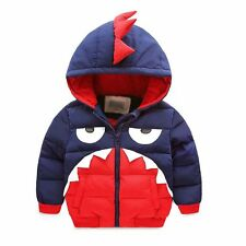 Toddler Baby Boys crocodile outerwear Hooded coats Kids Boys Jacket Clothes