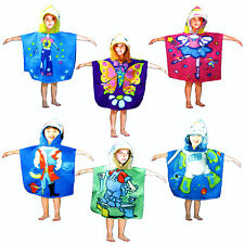 Polar Fleece Kids Children Boys Girls Poncho by Kingtex - 65 x 120cm