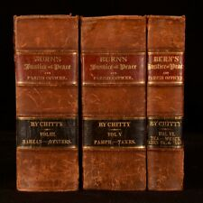 1837 3vol The Justice of the Peace and Parish Officer Richard Burn Legal Law