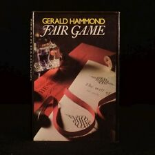 1982 Fair Game Gerald Hammond Signed First Edition Crime Mystery