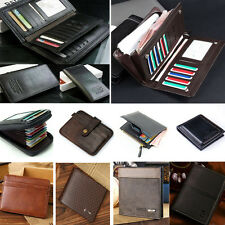 Genuine Leather Bifold Men's Wallet ID Credit Card Holder Mini Purse Money Clip