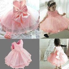 Baby Flower Girls Kids Princess Wedding Bridesmaid Party Formal Ball Gown Dress