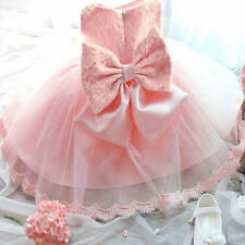 Flower Girls Princess Pageant Party Wedding Birthday Formal Kids Bow Gown Dress