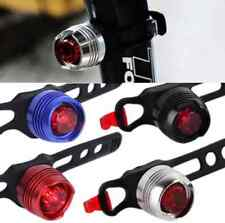 Bike Bicycle Cycling Led Front Rear Tail Helmet Safety Flash Light Warning Lamp