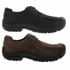 Keen Portsmouth II Mens Black Leather Shoes Size UK 8-13