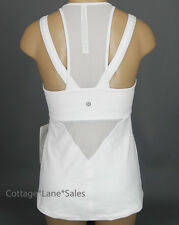NEW LULULEMON Running In The City Tank Sz 2 4 6 White NWT Yoga Run Gym FREE SHIP