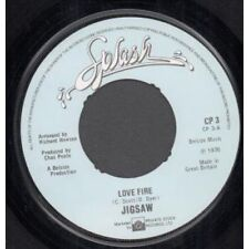 "JIGSAW Love Fire 7"" B/w Your Lips Are Close (cp3) Centre Has Been Removed UK Spl"
