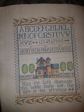 HOUSE BLESSING SAMPLER  Handcrafted/Completed  Cross Stitch Picture
