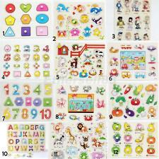 Set of Wooden Pull Out Peg Jigsaws Puzzles Preschool Girls Boys Play Game Toys