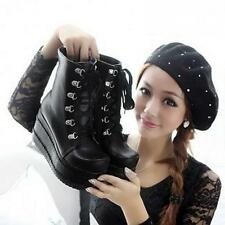 Hot New Women's Punk Boots Platform Lace up Creepers Gothic Shoes Combat Boots 8