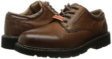 Dockers Men's Shelter Dark Tan Leather Lace Up Oxford 90-3902 US Size 9.5