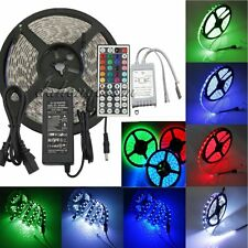 5M 5050 SMD 300 LEDs RGB Strip Lights (44 Key IR Remote) (12V 5A Power Supply)