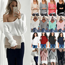 Womens Oversized Sweater Long Sleeve Baggy Jumper Tops Pullover Knitwear Blouse