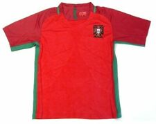 Portugal Soccer Futbol Red Home Jersey Uniform Shirt + Shorts Patch Logos Youth