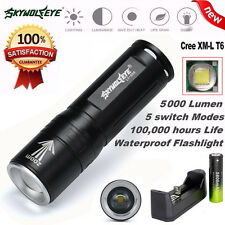 5000LM Zoomable 3 Modes CREE XML T6 LED 18650 Tactical Flashlight  Torch Lamp