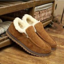 winter Korean men fur fringe thick ankle Slippers leisure sports boots shoes Sz