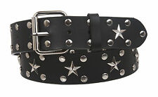 Snap On Silver Star and Circle Studded Belt