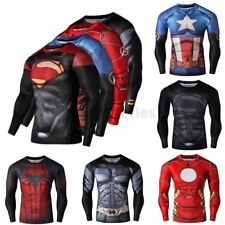 Superhero Men's Marvel Compression T-shirts Gym Sports Costume Bicycle Jersey