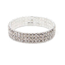 Sexy Silver Plated Bright Zircon3 Layers Women Anklet Foot Chain Bracelet