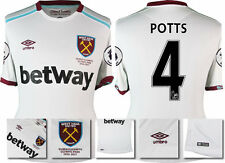 *16 / 17 - UMBRO ; WEST HAM UTD AWAY SHIRT SS + PATCHES / POTTS 4 = SIZE*