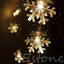 20/30/40 LED String Lights Snowflake Fairy Twinkle Christmas Party Lamp Decor