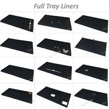 LOT OF MIXED TRAY LINERS JEWELRY TRAY INSERTS DRAWER LINERS DISPLAY CASE LINERS