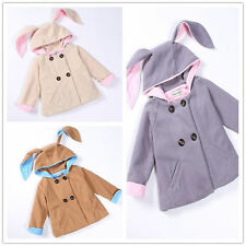 Fashion Toddler Baby Girls Long Sleeve Hooded Coat Outerwear Kids Jacket Clothes