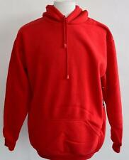 New Mens Access Red Pullover Hoodie Sweatshirt 100% Polyester Front Pocket