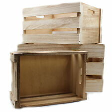 Shabby Vintage Chic Farmers Market Wooden Vegetable Fruit Kitchen Wine Crate