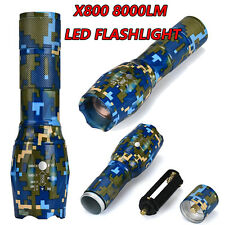 8000LM G700 X800 XM-L LED Tactical Flashlight Zoomable Military Torch Shadowhawk