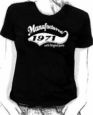 """Manufactured in 1971"" 100% original parts - Birthday humour Skinni fit  t-shirt"
