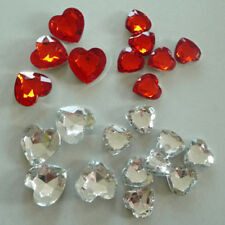 40 Wedding Streudeko Table Decorations Christening Grit Heart red/clear 1,6 1 1/