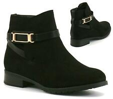 WOMENS LADIES BLACK SUEDE SLIP ON LOW FLAT HEEL CHELSEA ANKLE BOOTS SHOES SIZE