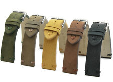 Watch Band 18, 20, 22, 0 15/16in Suede Vintage Retro Style Band Strap BS