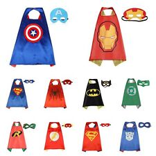 Kids Party Costume Outfits Superhero Cape Mask Birthday Christmas Gift Boy Girl