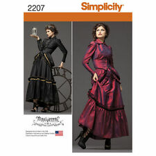 NEW SIMPLICITY VICTORIAN STEAM PUNK EDGY DRESS GOWN JACKET PATTERN 2207 6-20