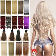 Mega Thick Real Natural Clip In Hair Extensions As Human Any Hair Style 1Pcs Trd