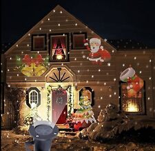Outdoor LED Laser Moving Light Projector Landscape Garden Wall Lamp Xmas Decor