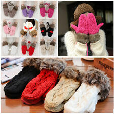 Fashion Women's Winter Warm Knit Gloves Warmer Mittens Finger Gloves 1 PAIR