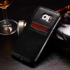 Luxury Slim Leather Card Slot Wallet Back Case Cover Skin For Samsung iPhone  Y