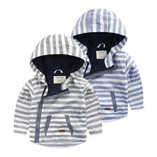 Toddler Baby Boys outerwear Hooded coats zipper Jacket Kids Boys autumn Clothes