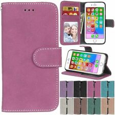 Leather Retro Flip Wallet Cards KickStand Magnetic Case Cover For Apple iPhone