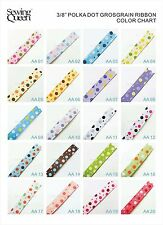 "3/8"" 10yard MIX MINI DOT Cute Princess Polka Dot Grosgrain Ribbon DIY BOW crafts"